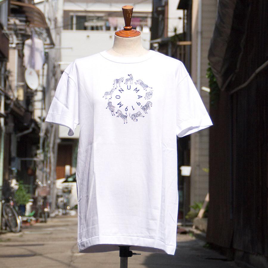 Tシャツ ユニセックス<うまくいく紋・MONUMA・白地黒プリント> 【クリックポスト:容量80】