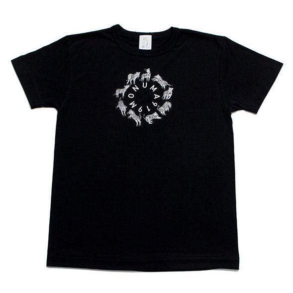 Tシャツ ユニセックス<うまくいく紋・MONUMA・黒地白プリント> 【クリックポスト:容量80】