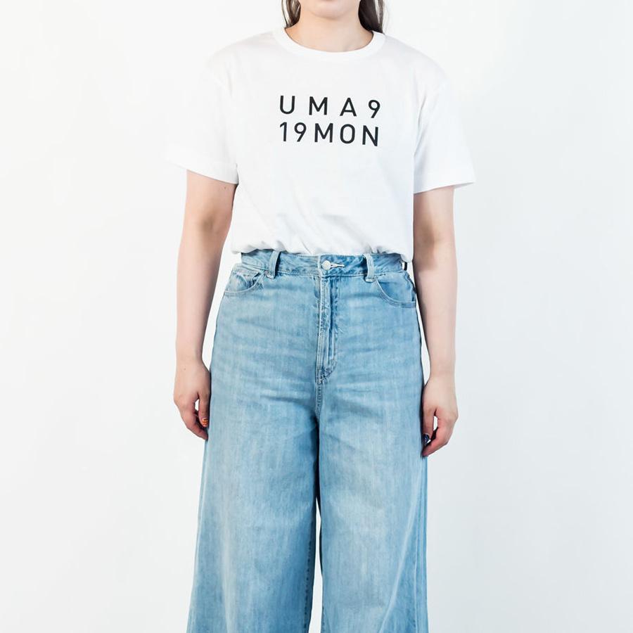 Tシャツ ユニセックス<うまくいく紋・LOGO・白地黒プリント> 【クリックポスト:容量80】