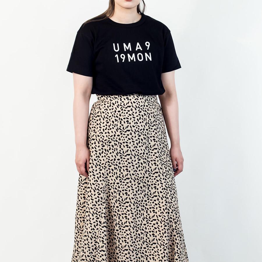 Tシャツ ユニセックス<うまくいく紋・LOGO・黒地白プリント> 【クリックポスト:容量80】【45%OFF】