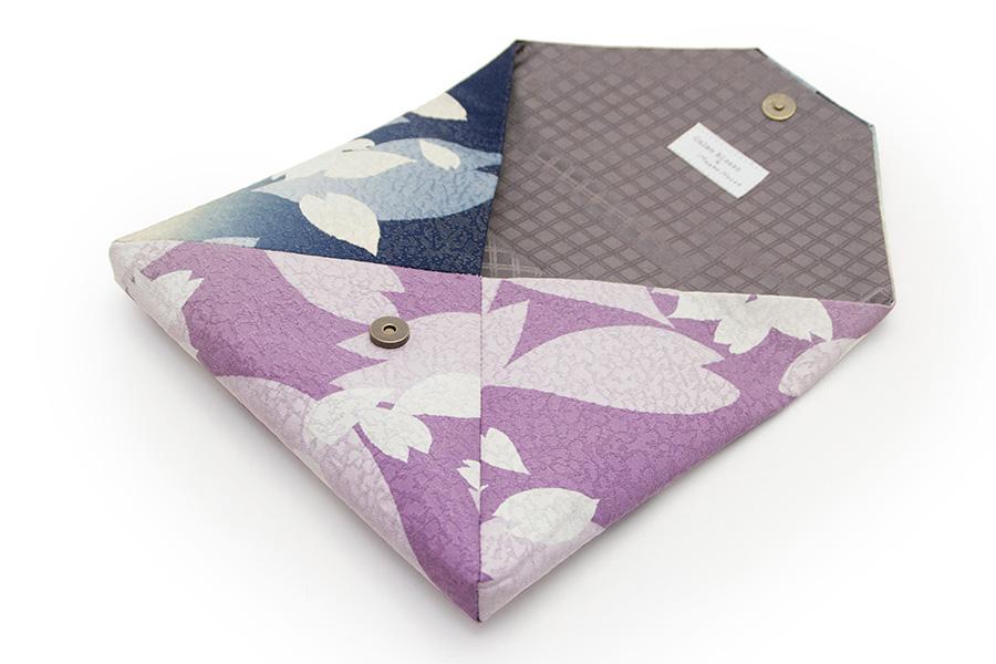 数寄屋袋 <花びら・紺×紫>