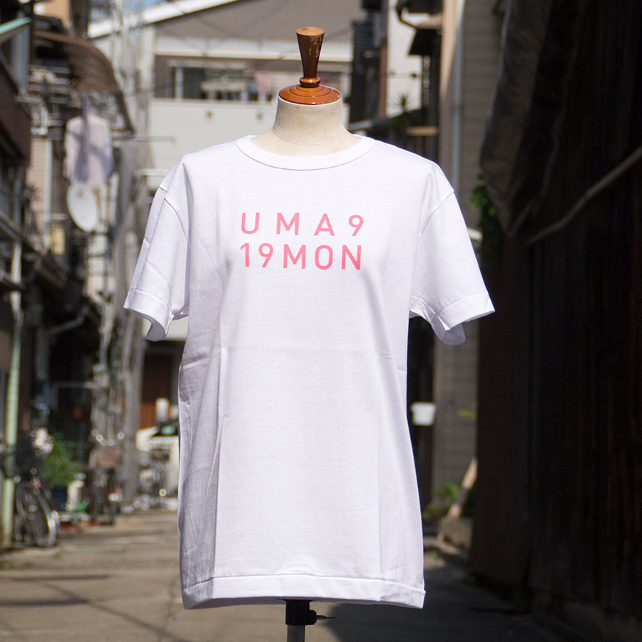 Tシャツ ユニセックス<うまくいく紋・LOGO・白地ピンクプリント> 【クリックポスト:容量80】