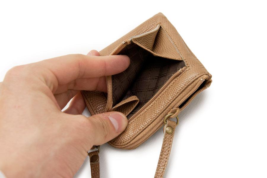 イタリア財布 本革<ブラック>