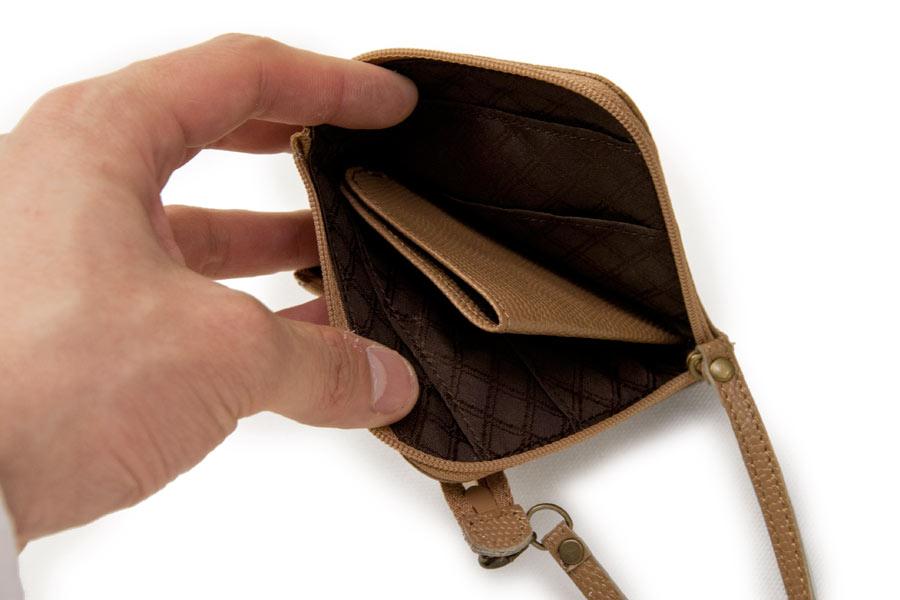 イタリア財布 本革<ブラウン>