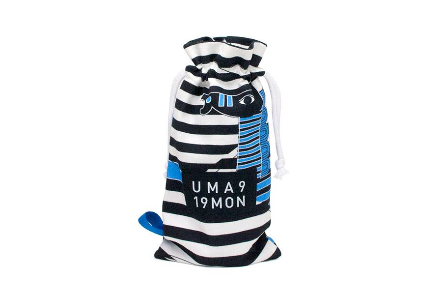 ペットボトルケース(500ml) 巾着型 うまくいく紋<[家庭円満]の神様>【クリックポスト:容量80】