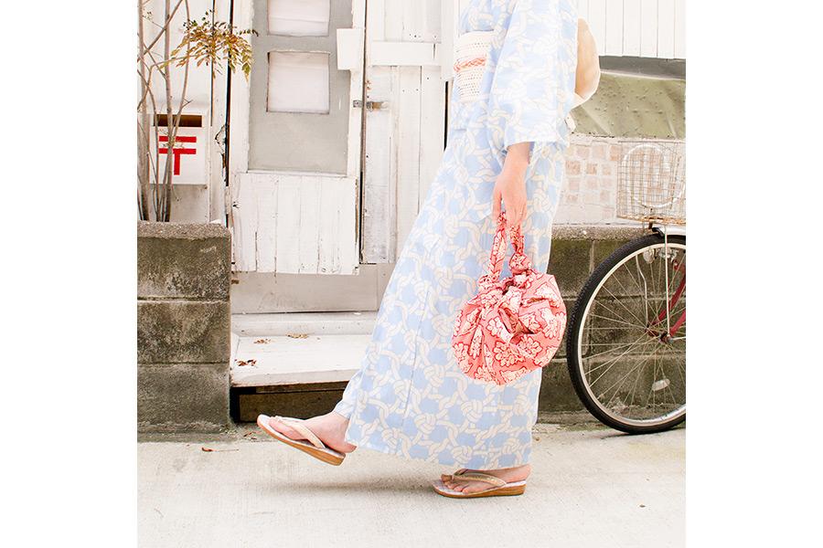 風呂敷 西陣織<花兎・紺> 90×90cm