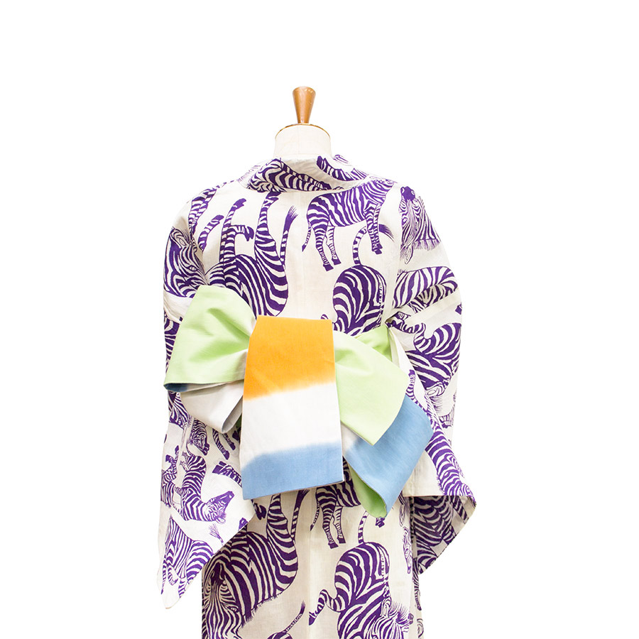 夏きもの・ゆかた <うまくいく紋・白紫>