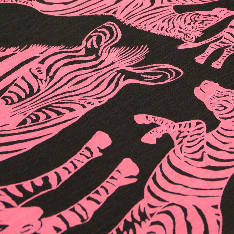 夏きもの・ゆかた <うまくいく紋・黒ピンク>