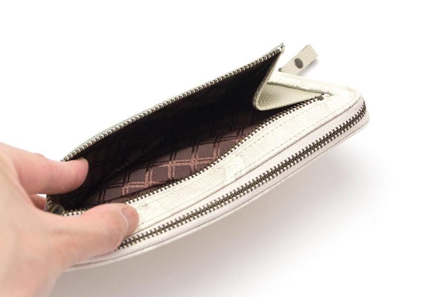 縦たば財布 ブロンズゼブラ<ホワイト>