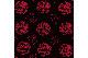 超撥水風呂敷『ながれ』<うまくいく紋・赤黒> 96×96cm 【クリックポスト:容量80】