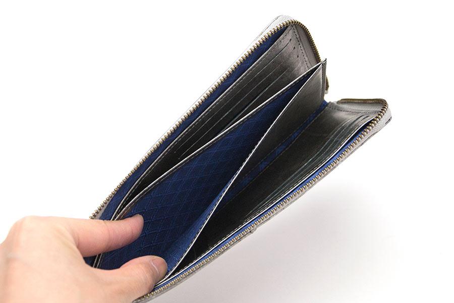 縦たば財布ロング GVR<いぶし銀>