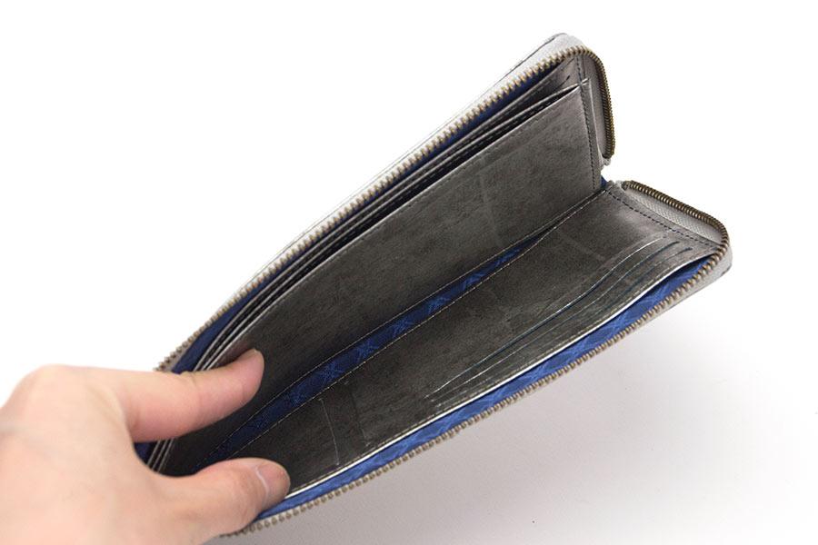 縦たば財布ロング GVR<シルバーグレイ>