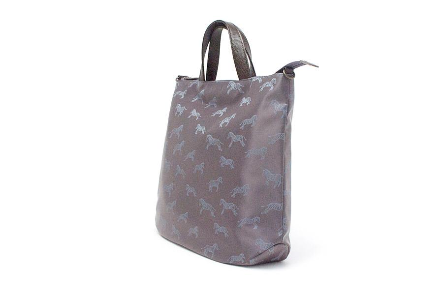 グレーザ ナイロン<青紫> 革:チョコ