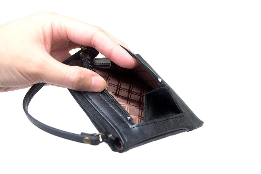 イタリア財布 GVR<マットブラック>