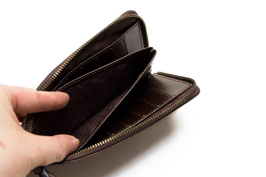 縦たば財布 ブロンズゼブラ<グレー>