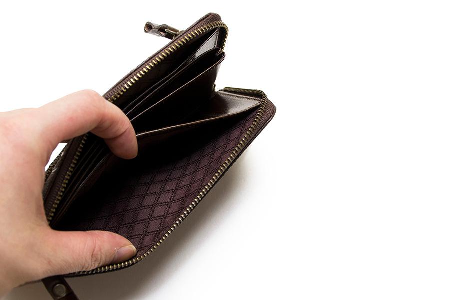 縦たば財布 ブロンズゼブラ<チョコ>