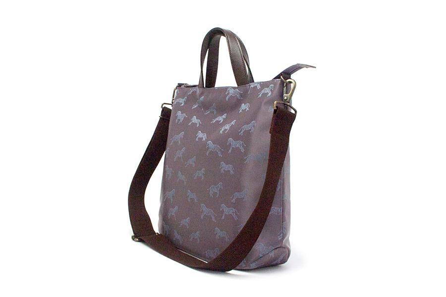 グレーザ ナイロン<青紫> 革:ギアナ700C<焦茶>