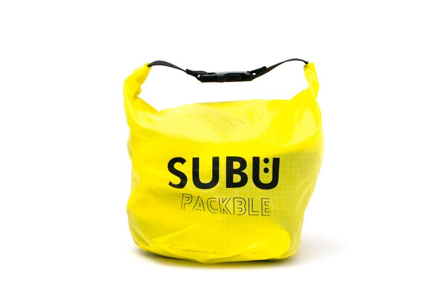 [SUBU PACKBLE]屋内外兼用サンダル-折りたたみ式 <レモンイエロー> 2019collectionモデル【30%OFF】