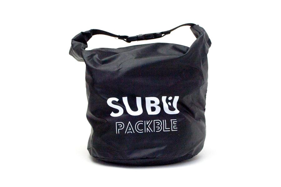 [SUBU PACKBLE]屋内外兼用サンダル-折りたたみ式 <グロスブラック> 2019collectionモデル【30%OFF】