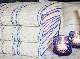 キュア 北欧 リネン パイル織 ストライプ タオル50x75 スオミ・ブルー
