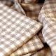 CALIENTE リトアニア リネン 麻 100% エマ(チェック) トープ茶 M キッチンクロス ランチョンマット