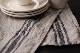 CALIENTE リトアニア リネン 麻 100% カンパーニュ テーブルランナー 黒ライン