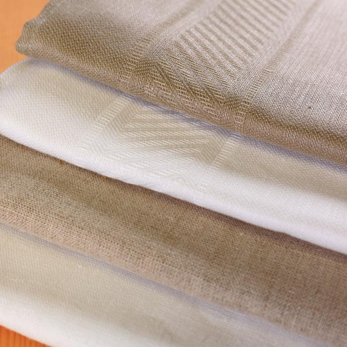 CALIENTE リトアニア リネン 麻 100% スタイル バスタオル トープ(茶色)