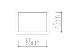 Classic ホワイト ベルギー リネン 枕カバー 額縁式45x65