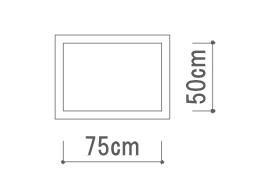 Classic ホワイト ベルギー リネン 枕カバー 額縁式50x75