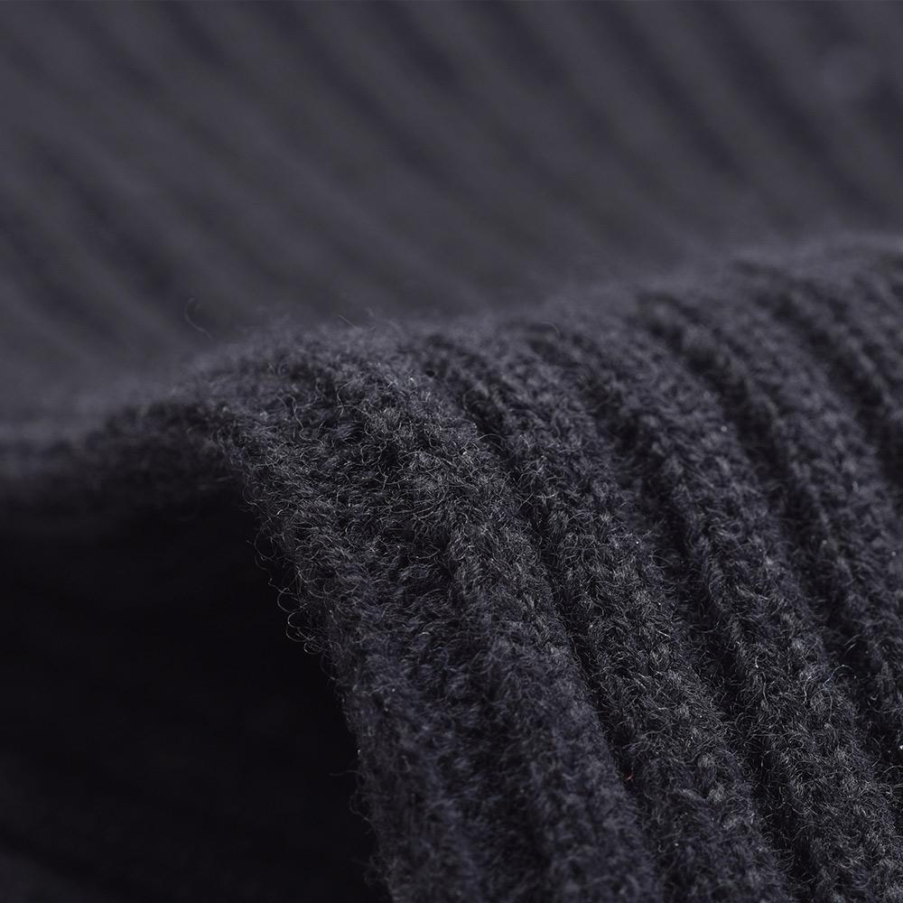 フィンガーレス ニット ロング グローブ - ブラック