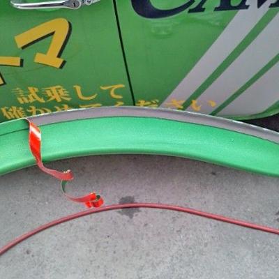 ローバーミニのオーバーフェンダー「ちょこっとオバフェン4.5」