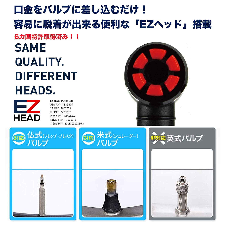 可変式携帯ポンプ 120psi 2WAYゲージ付 EZ-032AG