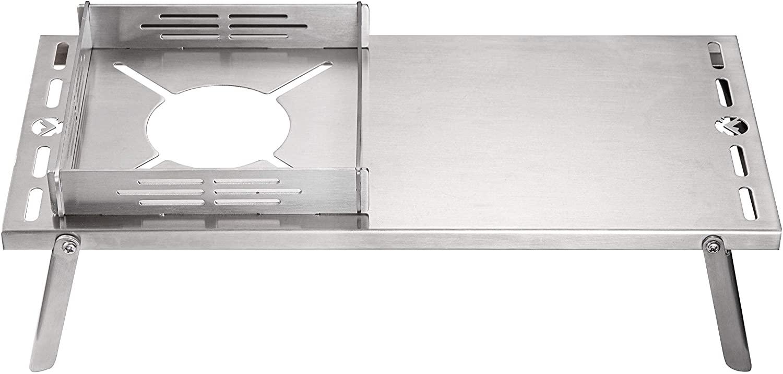 サイクルプレート ソロキッチン ソロテーブル用 風防 ステンレス製 SOLO KITCHEN SK-CP