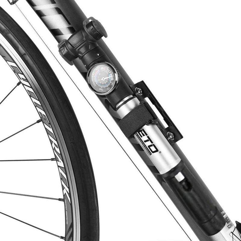 ベト(BETO) 空気いれ ロードバイク 自転車 米式 仏式 英式 CTDヘッド搭載 可変式携帯ポンプ 120psi 2WAYゲージ付 CTD-032AG