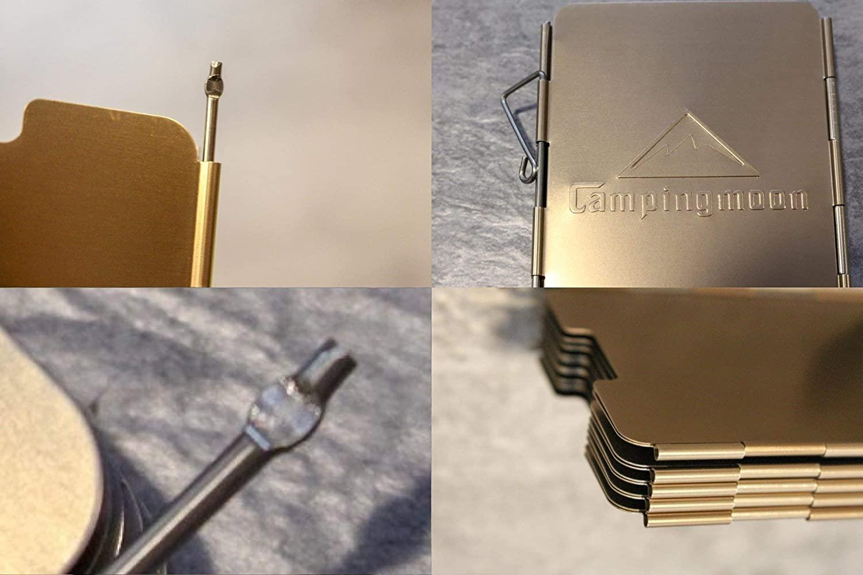 折り畳み式 風防板 酸化アルミ被膜 プレート アウトドア パートナー 収納箱付きYD-8