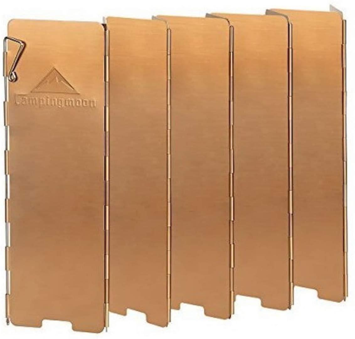 折り畳み式 風防板 酸化アルミ被膜 プレート アウトドア パートナー 収納箱付きYD-10