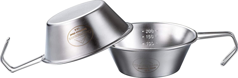 キャンプ用 コップ ステンレス シェラカップ 310ml 2点セット S-220-2P