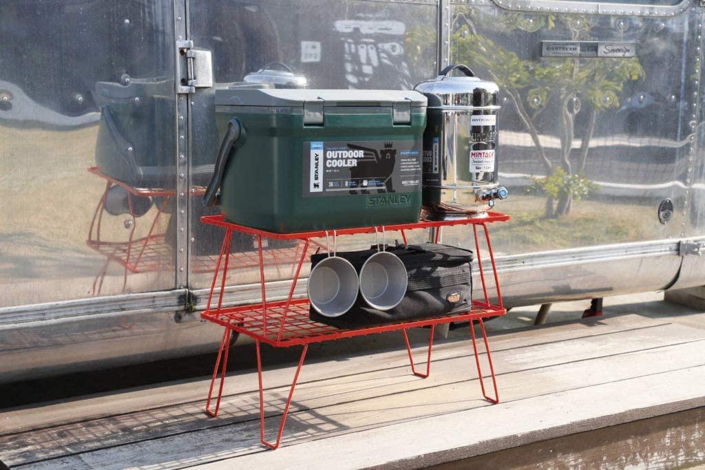 フィールドラック 赤 折り畳みラック 収納バック付き 本体T-230RD 2点セット T-230RD-2T