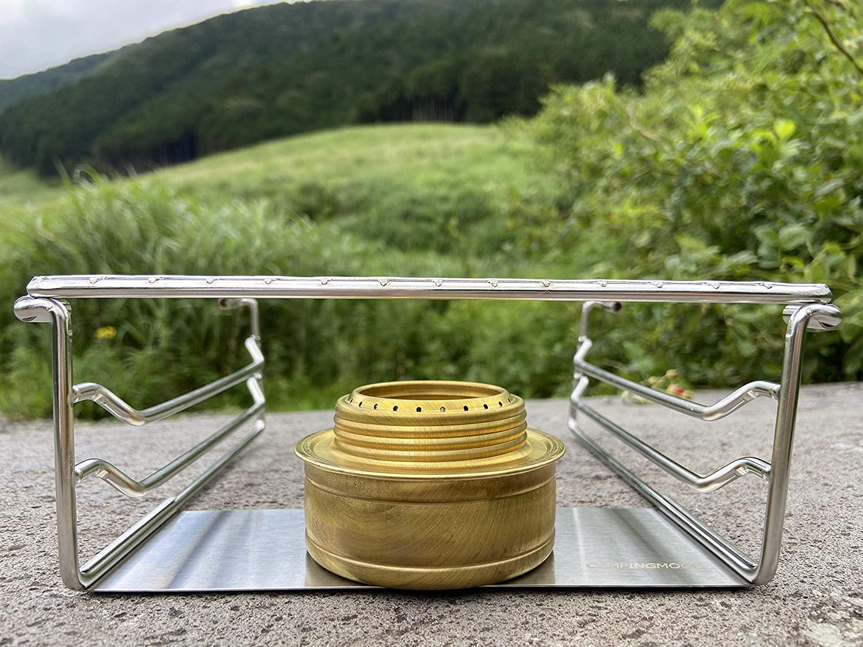 世界最小 ミニBBQコンロ専用替え用網 ピラミッド型グリル  クリップ金網 W-020