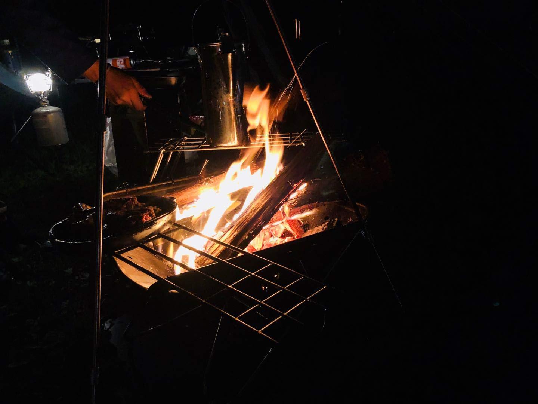 焚き火グリル ステンレス φ6丸棒  帆布ケース付き MTG-AB