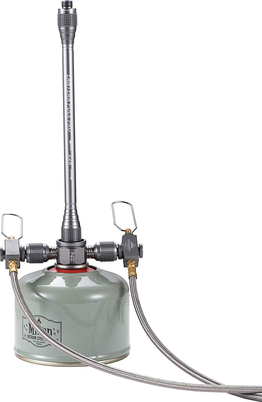 ツーウェイアダプター双方向バーチカル型 ガス分岐アダプター 3分岐アダプター Z31