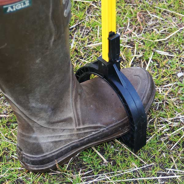 獣害対策 電気柵 電撃線固定具付支柱 マルチステップポール H1,000mm 10本セット