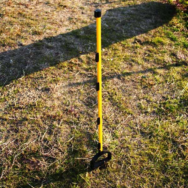 獣害対策 電気柵 電撃線固定具付支柱 マルチステップポール H2,000mm