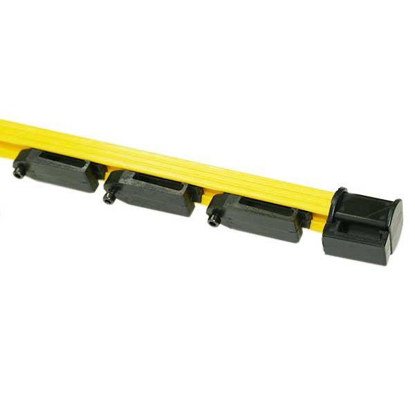 獣害対策 電気柵 電撃線固定具付支柱 マルチステップポール専用電撃線固定具 マルチクリップ 10個セット