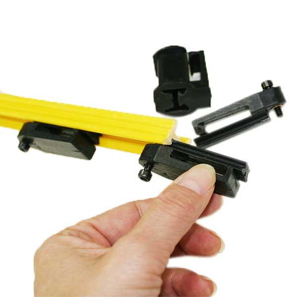 獣害対策 電気柵 電撃線固定具付支柱 マルチステップポール H1,500mm 10本セット