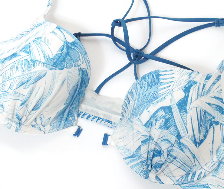 Floral バックデザインフロントホックブラジャー
