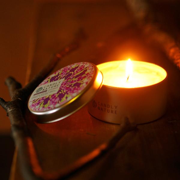 北海道天然アロマキャンドル(缶)/ラベンダー