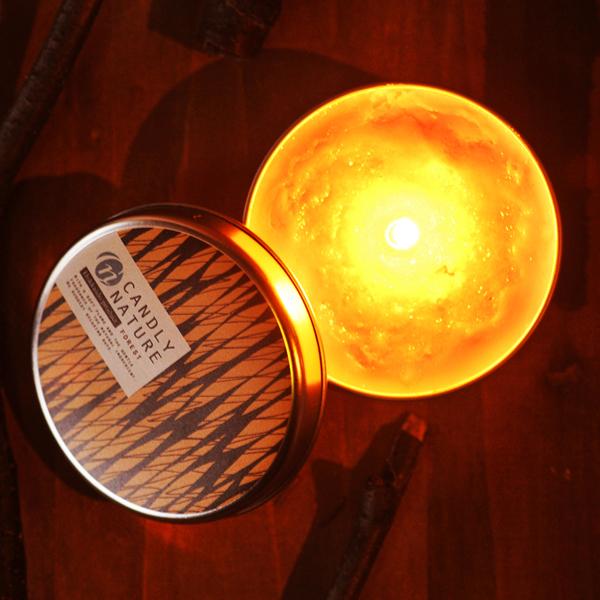 北海道天然アロマキャンドル(缶)/フォレスト