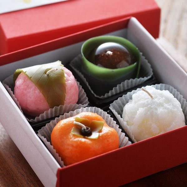 四季の和菓子キャンドル4個入り