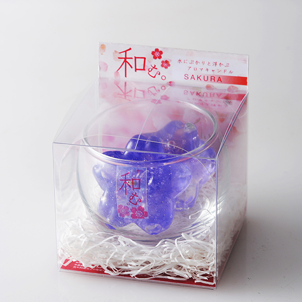 3Cキャンドル(和む。桜) | 2個入り | グラス付き
